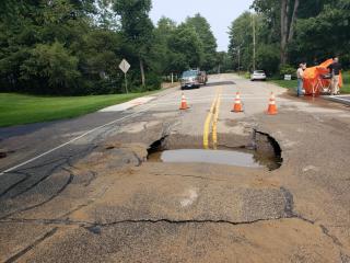 Cedar Street Water Main Break