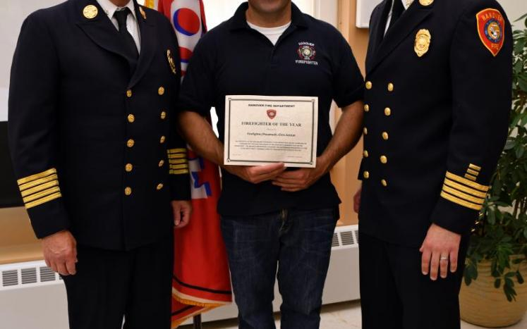 Chris Azizian, Hanover Fire Department 2019 Firefighter of the Year