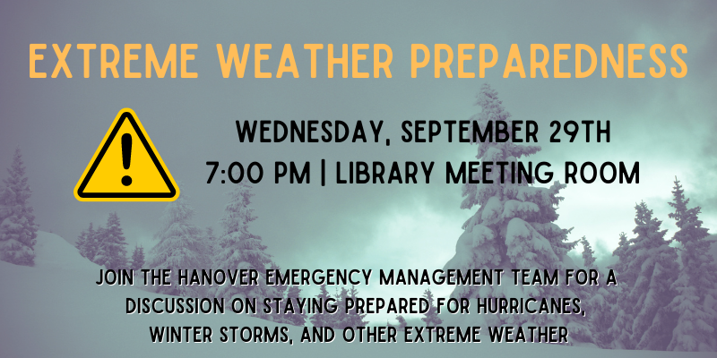Extreme Weather Preparedness 9/29 at 7pm
