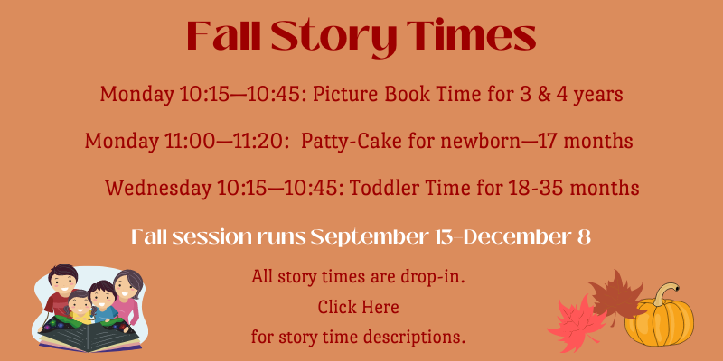 Fall Story Times now in session.