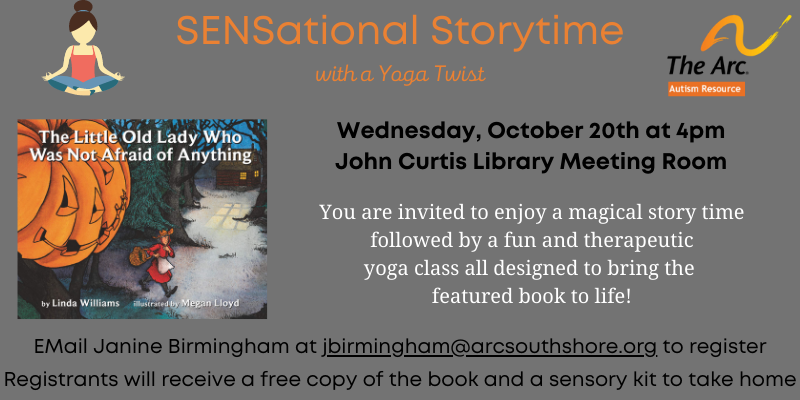 Sensory Story Time with Yoga October 20th at 4pm