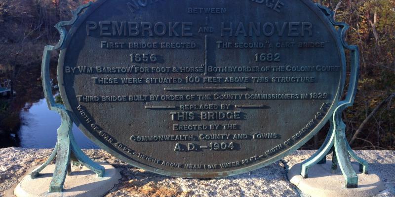 Washington Street North River Bridge, Plaque On Southwest Side.